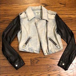 Carmar denim and leather jacket